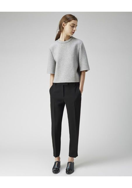 3.1 Phillip lim I love this minimal chic style. Classic black trousers and grey top.