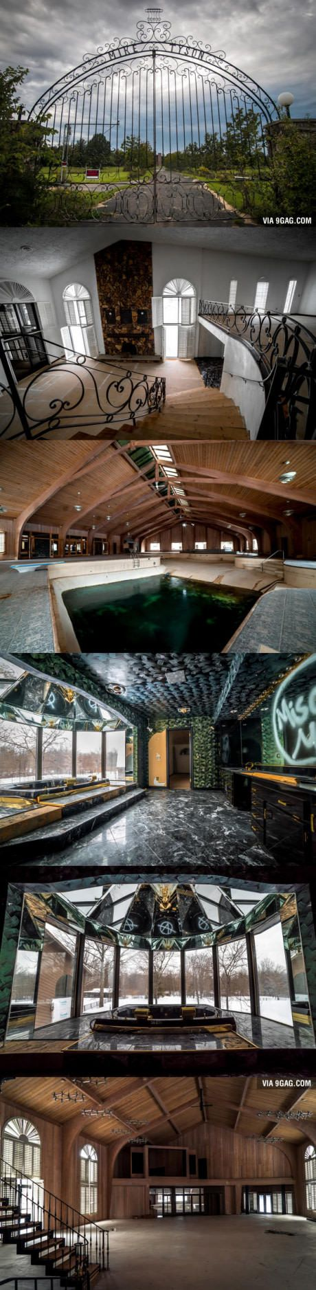 Mike Tyson's abandoned house