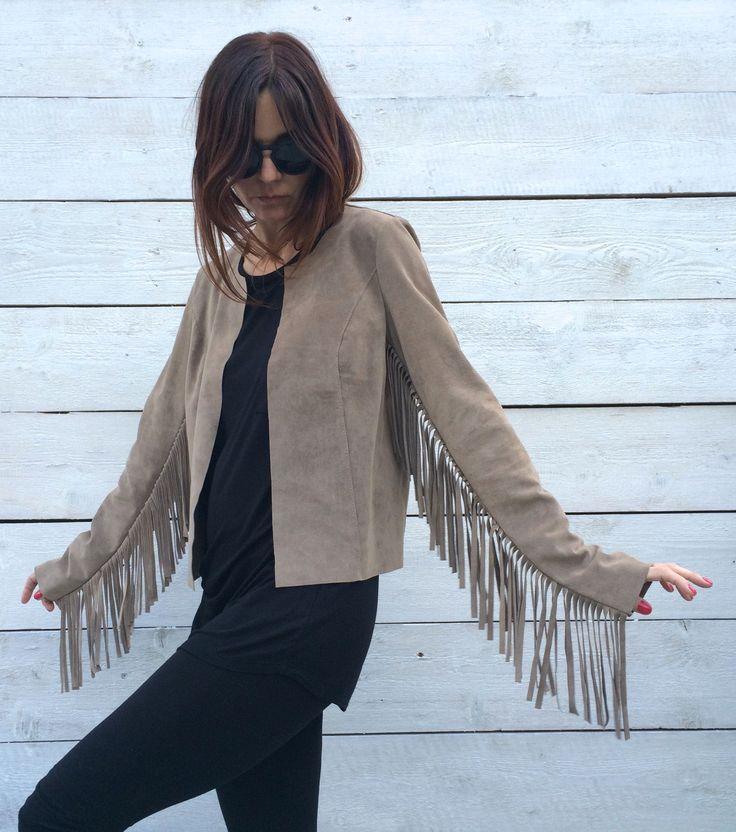 jacket, leather, suede, fringe, new kogotho