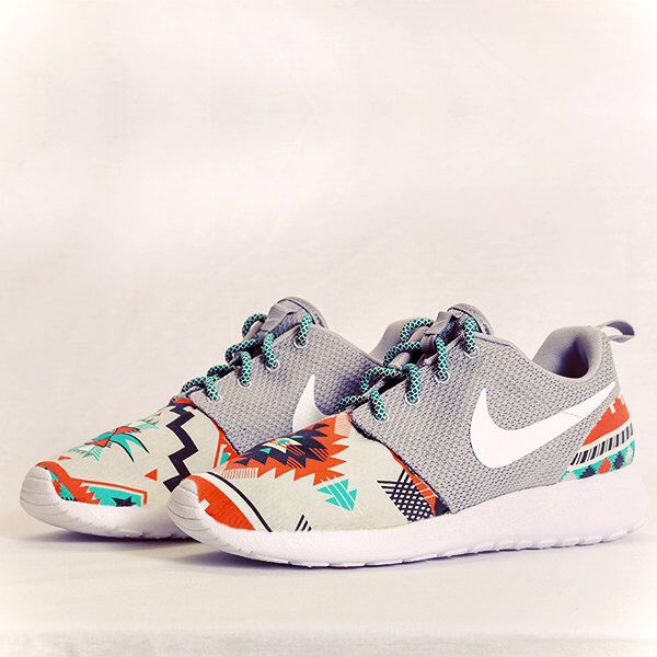 Nike Roshe Run Grey Aztec Custom Men & Womens by Dropkiks on Etsy https:/