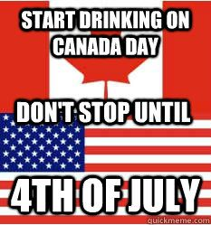 jokes about canadian independence for fb | Happy Independence Day guys! Or if you don't have a national holiday ...