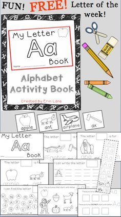 FREEBIE Letter of the Week Alphabet Activity Book! These interactive books build confidence with letter recognition and letter/sound skills! Perfect for morning work, guided group practice or to take home.