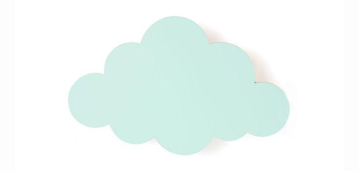 #Wolken #wandlamp voor sfeer in de #babykamer Werd je al blij van de #wolken-#wandplank? Dan maakt deze wolken-wandlamp in de #kleur #mint je helemaal gelukkig. Een echte eye-catcher aan de #muur in elke #babykamer #interieur