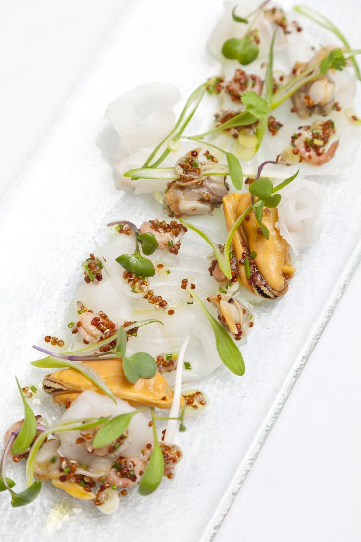 Dave Watts' halibut ceviche recipe is a real celebration of the sea, combining meaty Alaska halibut with mussels, clams, cockles and brown shrimp. The chef uses palourde clams for this dazzling dish, but regular clams will also work nicely.