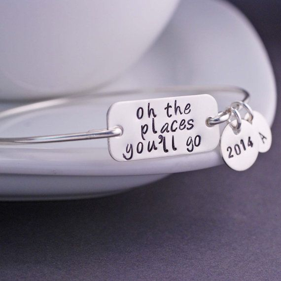 Graduation Gift, Oh the Places You'll Go Jewelry, Oh the Places You'll Go Bracelet, 2014 on Etsy, $38.00