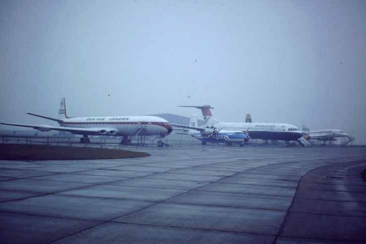 Classic airframes at Duxford Air Museum. UK. Note the Concorde in the background!