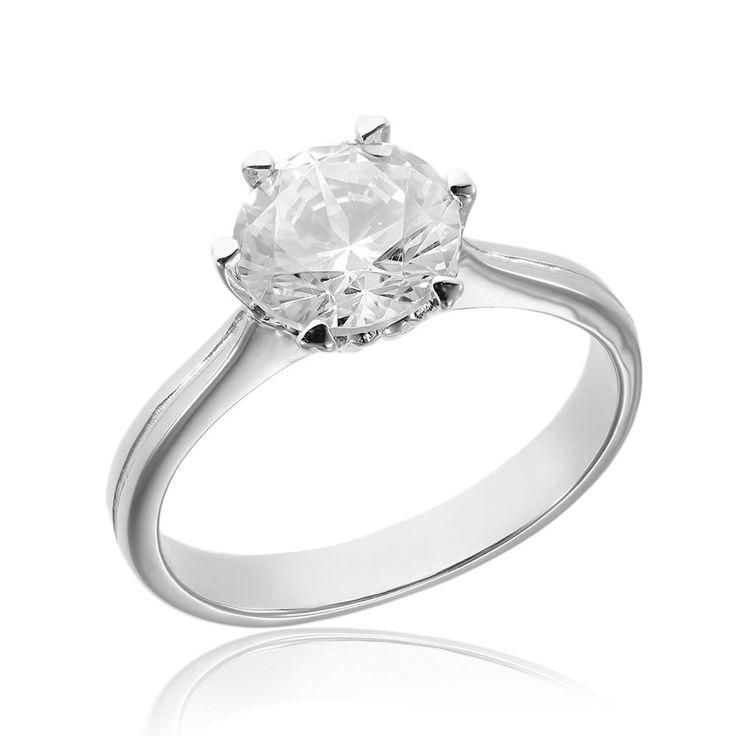 Inel de logodna argint Solitar cu cristale Cod TRSR020 Check more at https://www.corelle.ro/produse/bijuterii/inele-argint/inele-de-logodna-argint/inel-de-logodna-argint-solitar-cu-cristale-cod-trsr020/