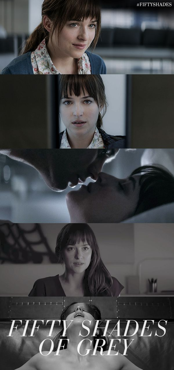Falling in love ... Dakota Johnson is Anastasia Steele | Fifty Shades of Grey | In Theaters Valentine's Day 2015
