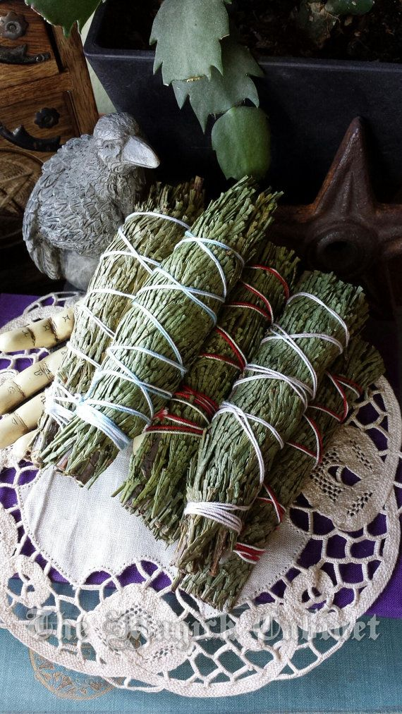 Cedar Smudging Wand, Cedar Incense, Natural Incense, Witchcraft Supply, Smudge Wand, Witch, Pagan, Wiccan, Smoke Clearing