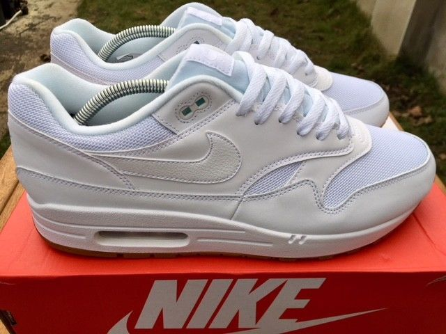 Max 10 Euro Men's New Nike 109 Ah8145 White Air 1 45 Trainer Size Uk I9HED2