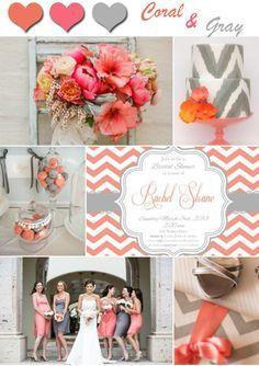 wedding ideas 2014 unique coral and gray wedding color ideas and invitations