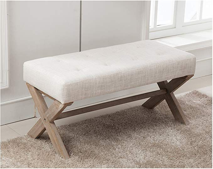 Amazon Com Fabric Upholstered Entryway Bench Seat 36 Inch Bedroom Bench Seat With X S In 2020 Upholstered Entryway Bench Upholstered Bench Bedroom Bedroom Bench Seat