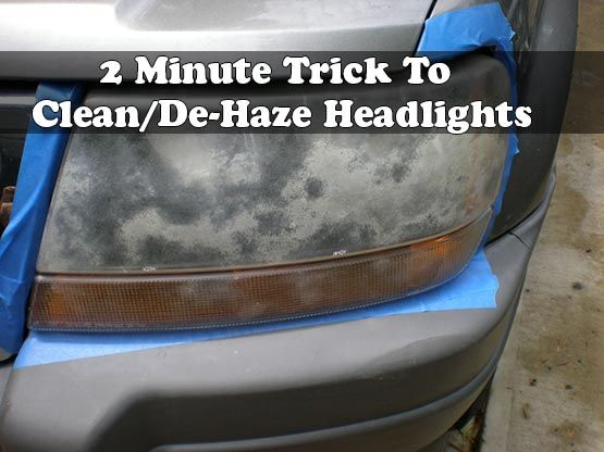 how to clean car headlights home remedy