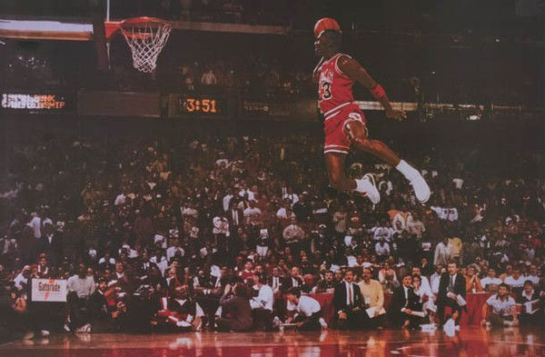 Michael Jordan Massive Air Dunk Basketball Poster 24x36 – BananaRoad