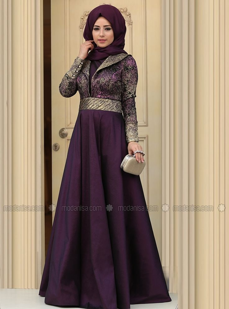 Kosem Evening Dress - Plum - Zehrace