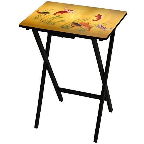A lovely golden tray table featuring lucky Koi fish. If you don't have the time to reflect by a pond, bring this portable foldable table into your home. Perfect for meals, work or play. Would also make a nice side table. Explaindio free CC footage module  trial ProfitBuilder - Basic Profit... more details available at https://furniture.bestselleroutlets.com/game-recreation-room-furniture/tv-trays/product-review-for-oriental-furniture-lucky-fish-tv-tray/