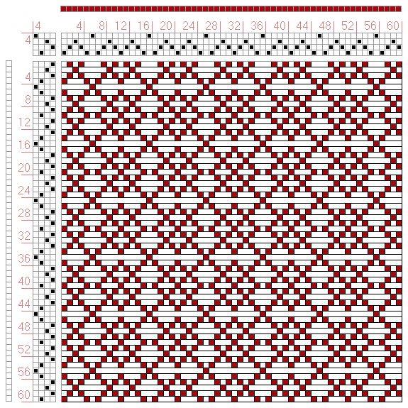 Hand Weaving Draft: Page 49, Figure 20, Bindungs-Lexikon für Schaftweberei, Franz Donat, 4S, 4T - Handweaving.net Hand Weaving and Draft Arc...
