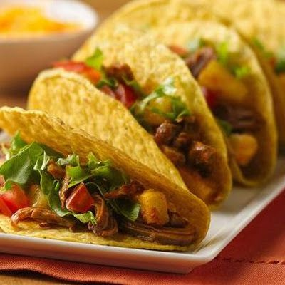 Slow Cooker Pineapple-Pork Tacos | Recipes | Pinterest