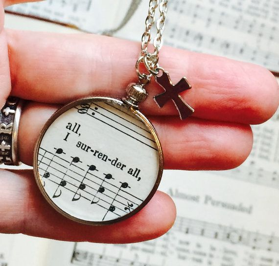 I Surrender All Hymn Necklace O Happy Day Hymnal by GospelHymns