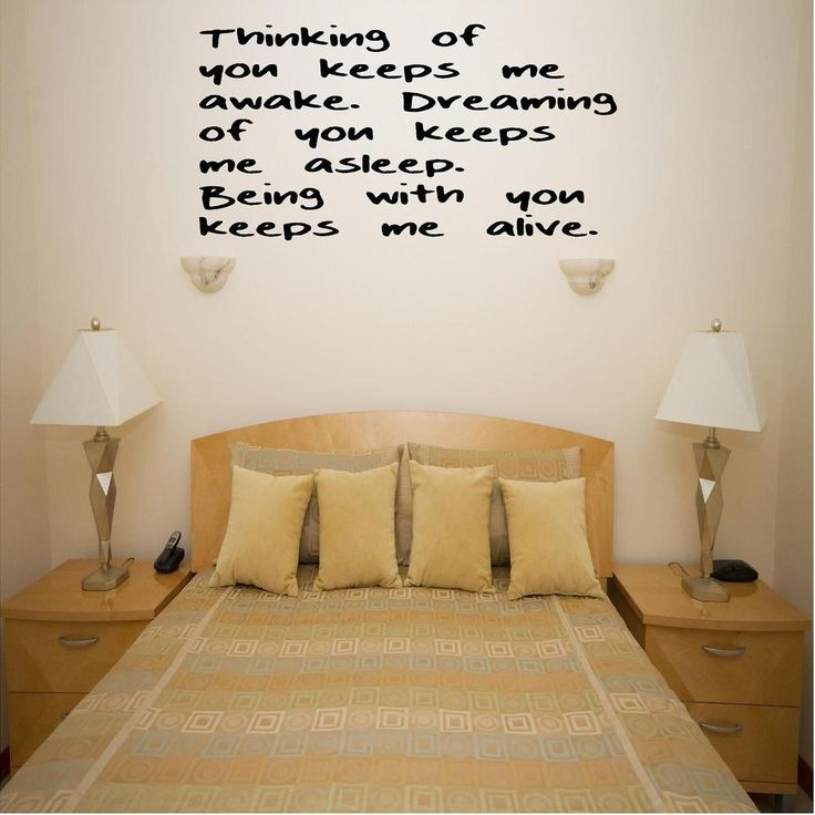 Thinking Of You Custom Vinyl Wall Decals, Stick On Wall Art, Wall Decals