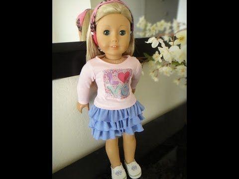 No Pattern Ruffled Skirt Tutorial for American Girl Dolls