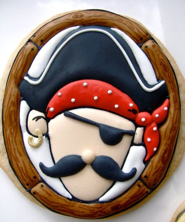 Cute Cookie for a Pirate Party.