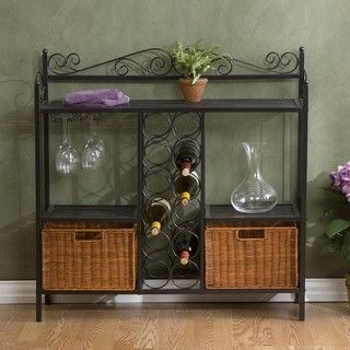Baker's Rack with Wine Storage | Overstock.com Shopping - Great Deals on Upton Home Shelves