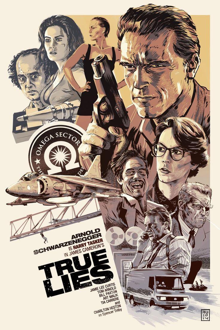"""True Lies"" Poster by Aurelio Lorenzo (via Inside the Rock Poster Frame)"