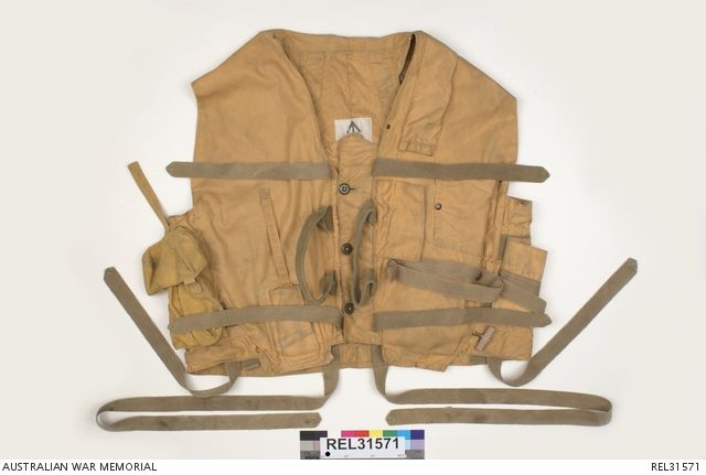 MAE WEST LIFEJACKET -Claude Massey  (1889-1968), public servant and inventor, of Footscray, Melbourne invented this rapid-inflation life jacket for the Royal Australian Air Force during WWII.  Called the 'Australian Mae West', the jacket had a large flotation area around the chest which gave  wearers 'a pouter pigeon appearance'. His Mae West saved the lives of countless Australian and allied servicemen. Massey donated the patent rights of his invention to the Commonwealth.