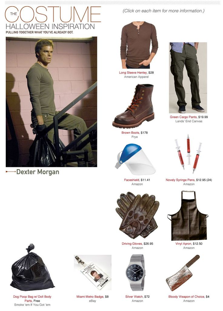 Dexter Morgan Costume | Primer -Eddies costume only missing a few things