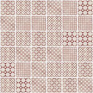 Batik Patchwork Red Tile from Topps Tiles