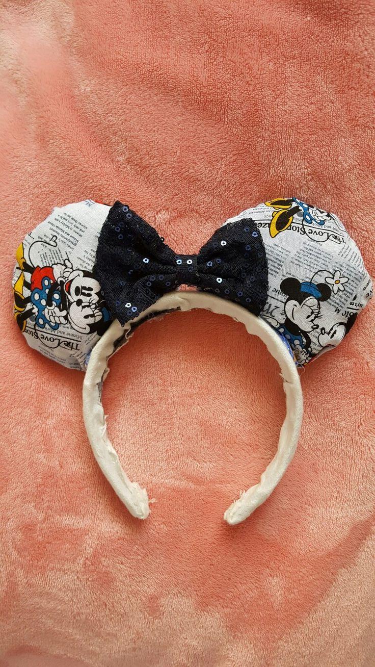 DIY Vintage Mickey Mouse Ears