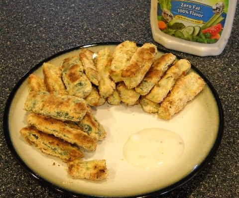 no longer a grim girl: Baked Zucchini Sticks with Health One Meal Replacement