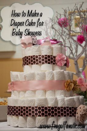 Find out how you can make a diaper cake for your next baby shower