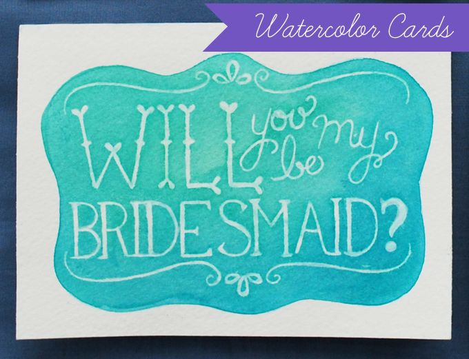 a pretty & simple way to mix watercolors and text...