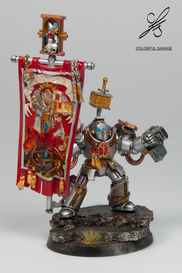 Grey Knight Herald with psycannon by Colorfulsavage.deviantart.com on @DeviantArt