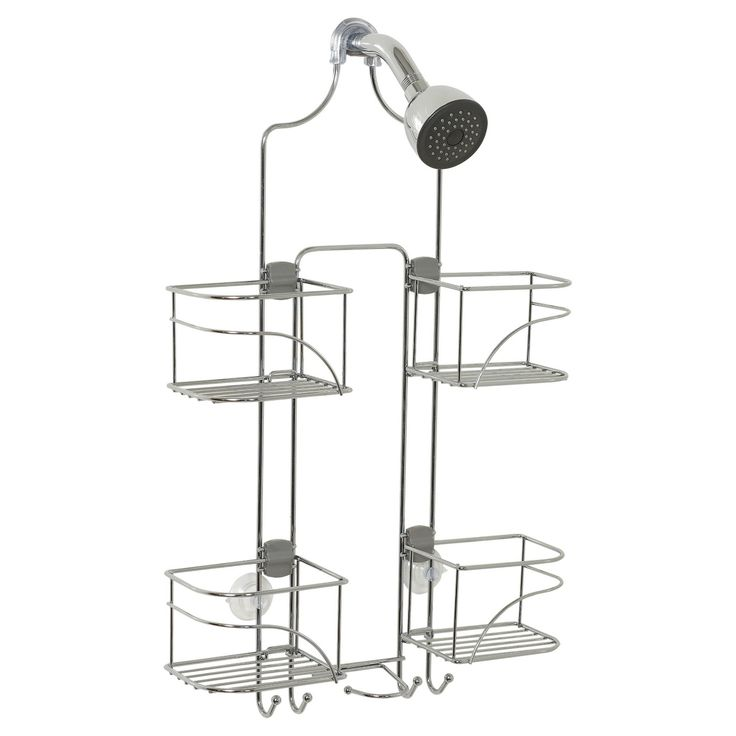 Keep shower clutter under control and your essentials close at hand with this Zenna Home Expandable Rust-Resistant Shower Head Caddy. Designed to hang on both standard and detachable shower heads, this sleek shower caddy comes in colors that blend in with your fixtures. The suction cups on this shower shelf adhere to your tile or tub insert for extra stability and the four basket shelves adjust horizontally to best fit your bath. Bonus hooks at the bottom of this shower organizer are perfect…