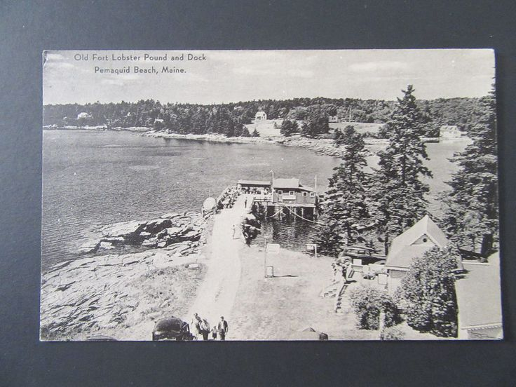 Old Fort Lobster Pound and Dock, 1940s, Pemaquid Beach, Maine, ME, A5455