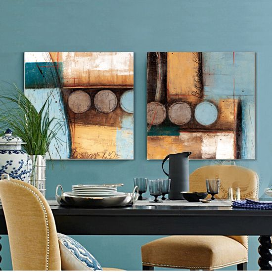 Find More Painting & Calligraphy Information about Light blue and yellowish…