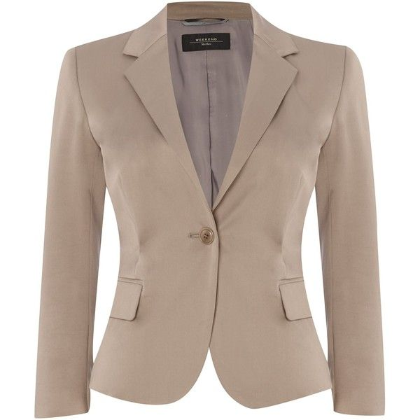 Weekend MaxMara Fify cropped blazer found on Polyvore