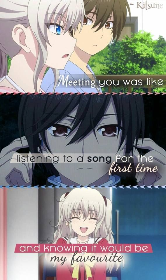 But I played the song to many times, and I never listened to it again. I don't remember the name, but I will always remember the lyrics. Anime: Charlotte