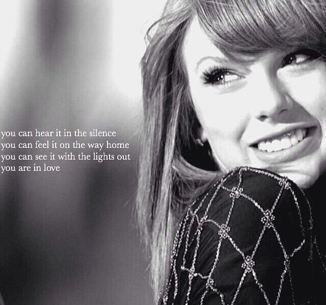 You Are In Love - Taylor Swift