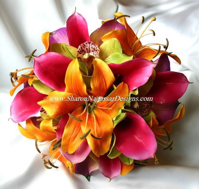 orange and pink wedding bouquet wedding flowers pinterest beautiful wedding and kauai wedding. Black Bedroom Furniture Sets. Home Design Ideas
