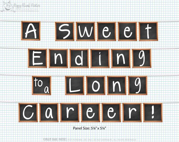 Party Decoration | Teacher Retirement: Celebrate your favorite teacher's retirement with our digital chalkboard banner!