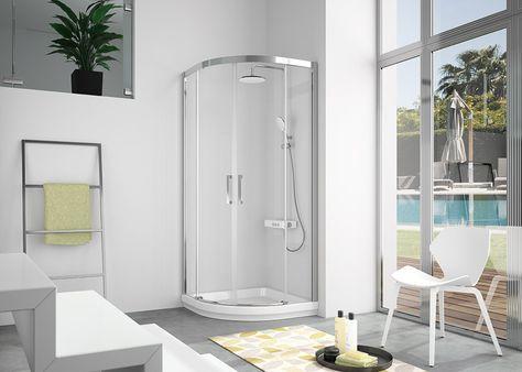 Semicircular de ducha 2 fijos + 2 puertas correderas - mampara de ducha - kassandra