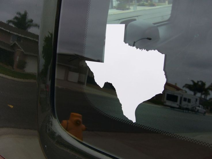 State of Texas Map ~ window laptop decal car bumper sticker 49 colors USA Decals