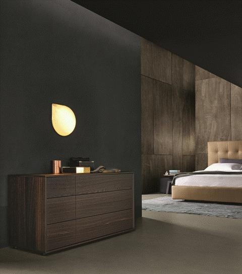 POLIFORM: Arca bed, Santa Monica armchair, Tribeca coffee tables and Match chest