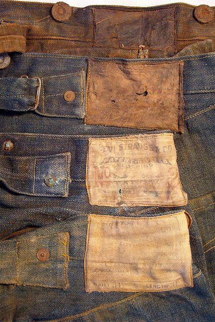 vintage jean labels
