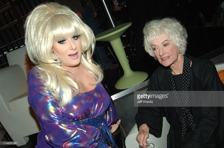Lady Bunny and Bea Arthur during Comedy Central Roast of Pamela Anderson - Backstage, Green Room and Audience at Sony Pictures Studios in Culver City, California, United States.