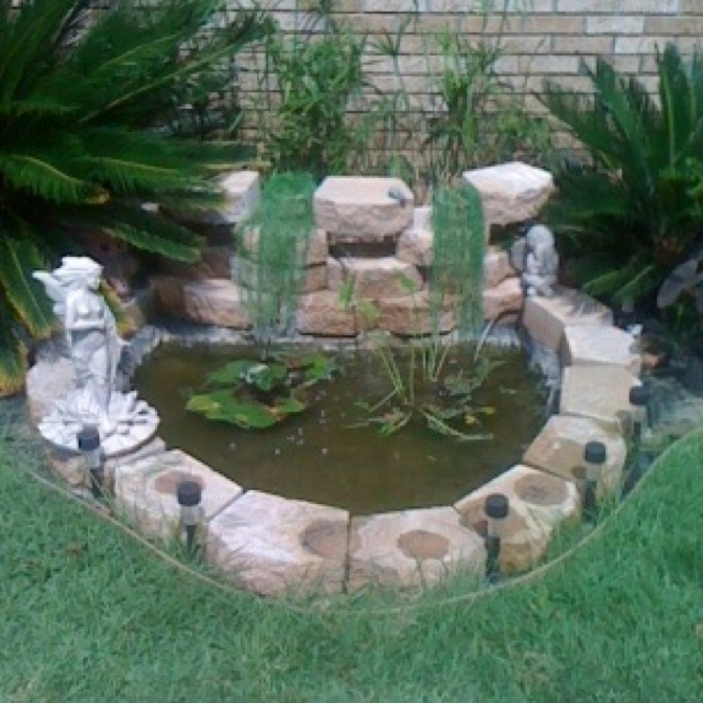 Front yard pond | Food & Drink that I love | Pinterest on Front Yard Pond id=78966